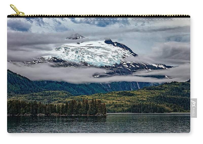 Mountain Carry-all Pouch featuring the photograph Hanging Glacier by Rick Berk