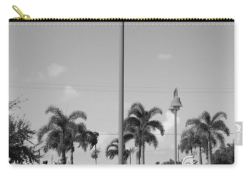 Black And White Carry-all Pouch featuring the photograph Hanging Lamps by Rob Hans
