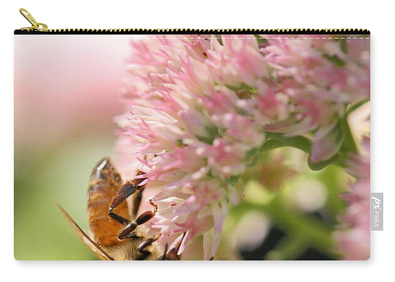 Bee Carry-all Pouch featuring the photograph Hanging Out by Angela Rath
