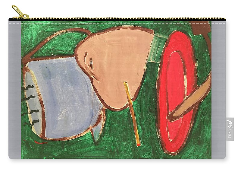 Man Carry-all Pouch featuring the painting Hanging Out by Margaret Jemison