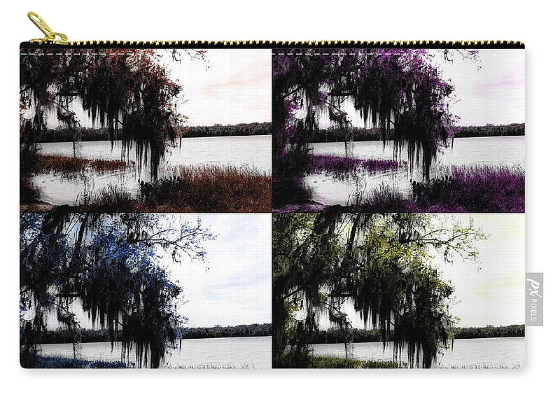 Shannon Carry-all Pouch featuring the digital art Hanging Over The Marsh by Shannon Sears