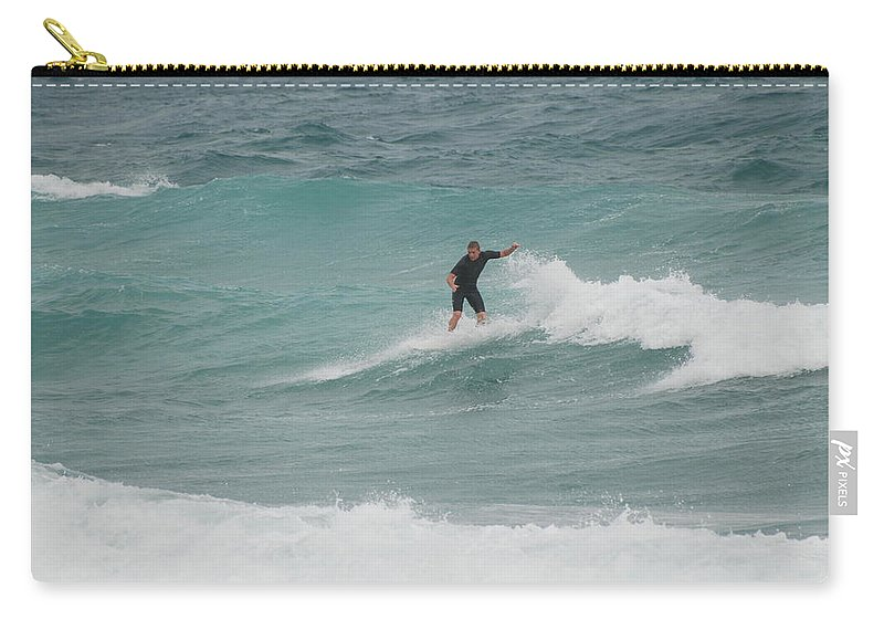 Water Carry-all Pouch featuring the photograph Hanging Ten by Rob Hans