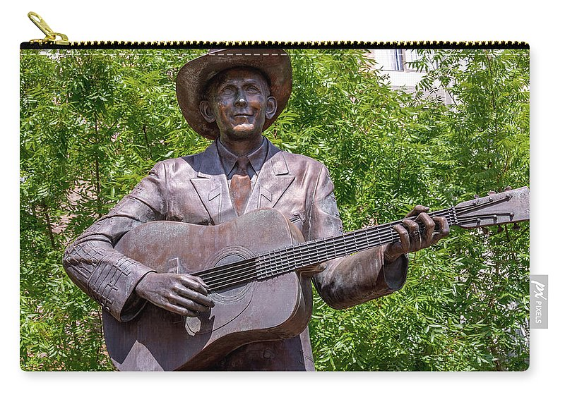 Hank Williams Statue - Cropped Carry-all Pouch featuring the photograph Hank Williams Statue - Cropped by Debra Martz