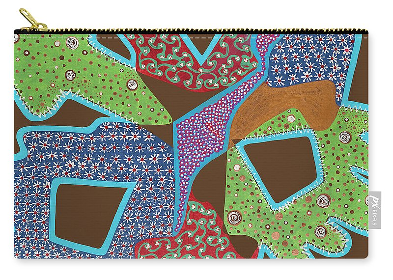Abstract Carry-all Pouch featuring the painting Hanky Panky by Louise Hankes