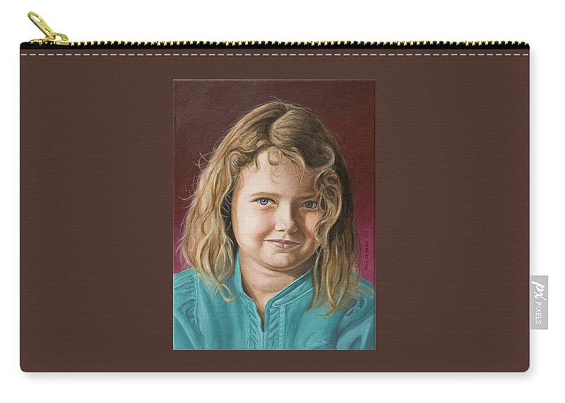 Portrait Carry-all Pouch featuring the painting Hanna by Rob De Vries