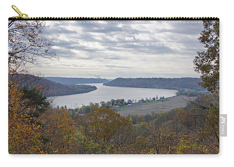 Ohio River Carry-all Pouch featuring the photograph Hanover College View by Sandy Keeton