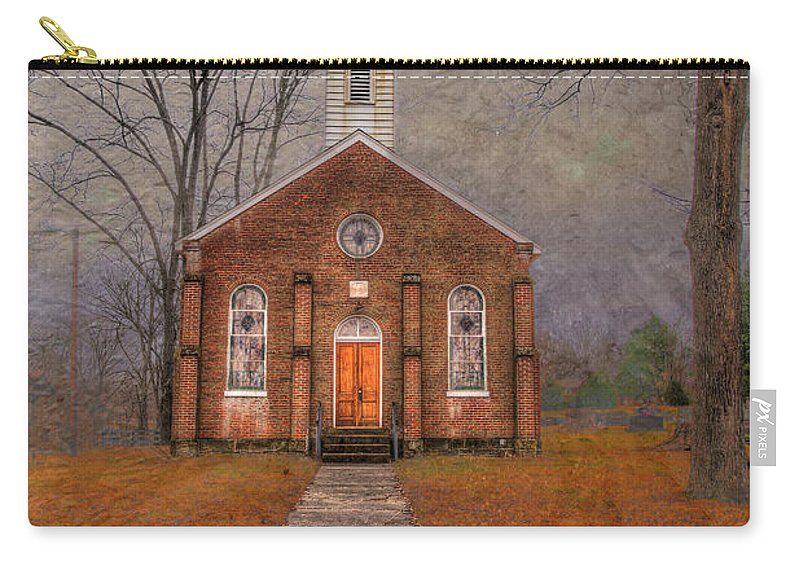 Travel Carry-all Pouch featuring the photograph Hanover Luthern Chruch by Larry Braun