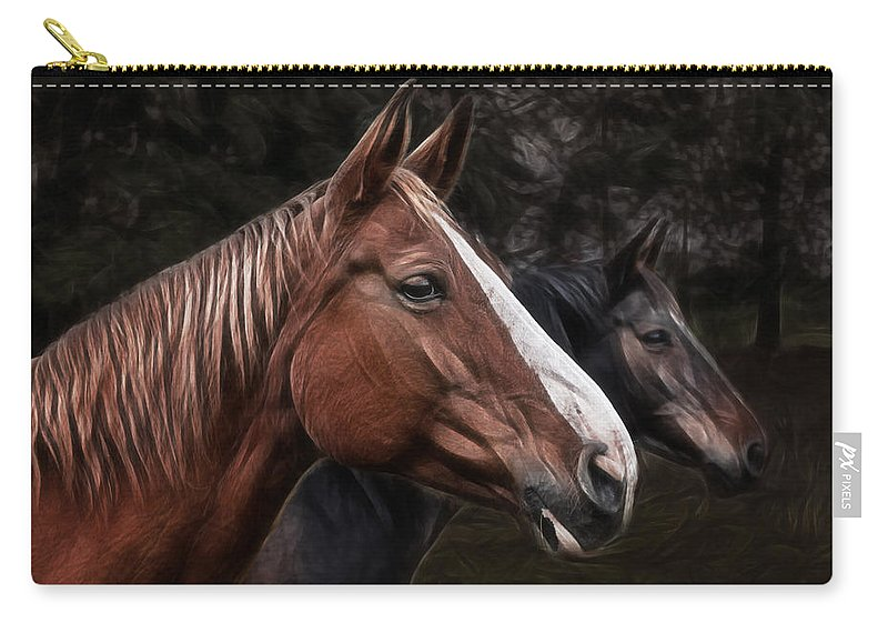 Horse Carry-all Pouch featuring the photograph Hanoverians by Joachim G Pinkawa