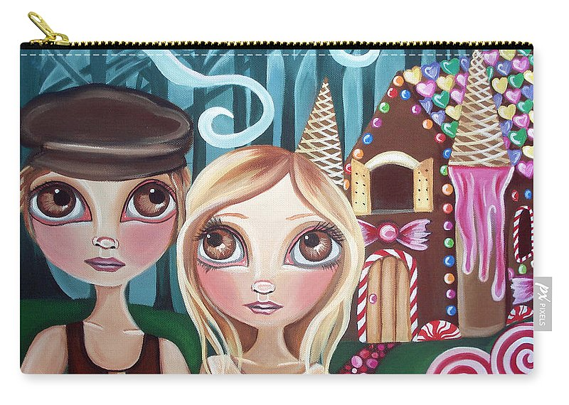 Hansel Carry-all Pouch featuring the painting Hansel And Gretel by Jaz Higgins