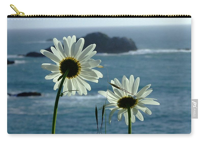 Daisy Carry-all Pouch featuring the photograph Happily Ever After by Donna Blackhall