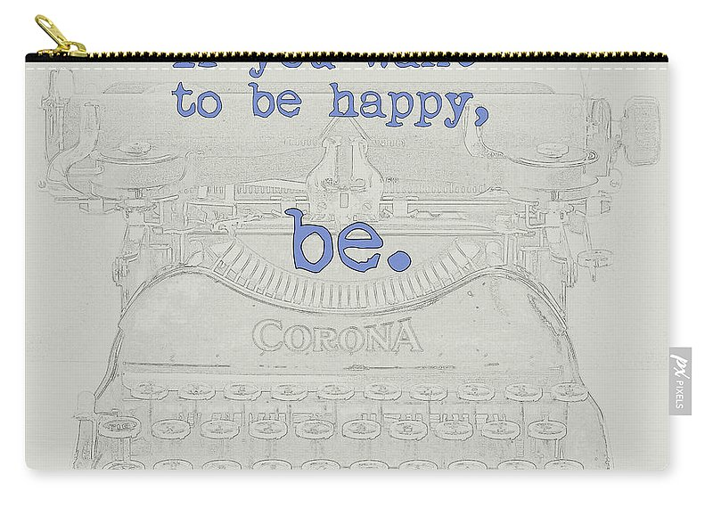 Leo Tolstoy Carry-all Pouch featuring the digital art Happiness by David Hinds