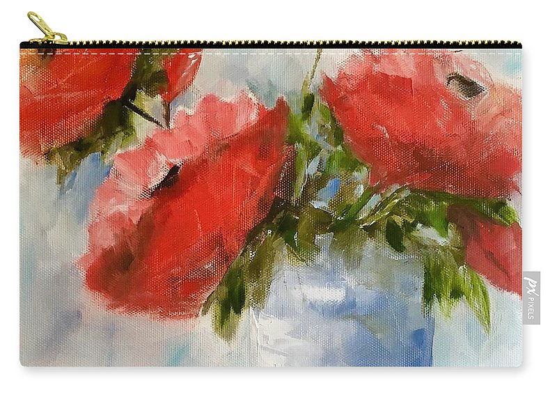 Original Art Carry-all Pouch featuring the painting Happiness In A Pot by Sandra Reeves