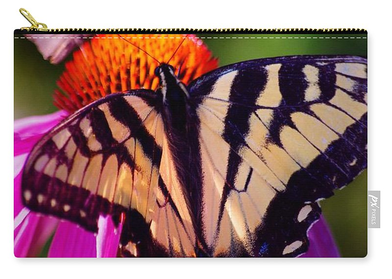 Flowers Carry-all Pouch featuring the photograph Happiness In Our Own Gardens... by Arthur Miller