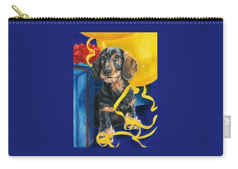Dogs Carry-all Pouch featuring the drawing Happy Birthday by Barbara Keith