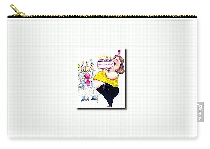Humor Get Even Carry-all Pouch featuring the drawing Happy Birthday by Bruce Lennon