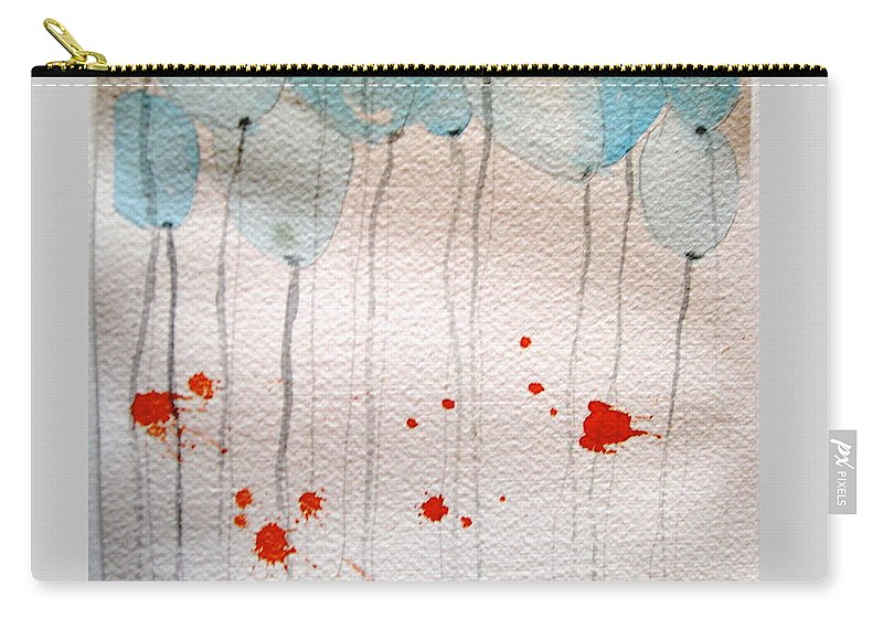 Balloon Celebrate Fun Happy Play Carry-all Pouch featuring the painting Happy Birthday Katherine by Patricia Caldwell