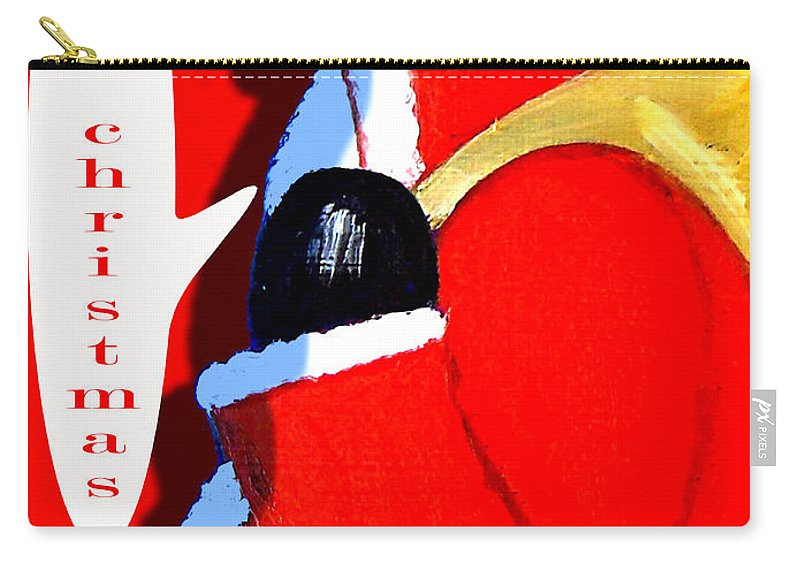 Christmas Carry-all Pouch featuring the painting Happy Christmas 15 by Patrick J Murphy