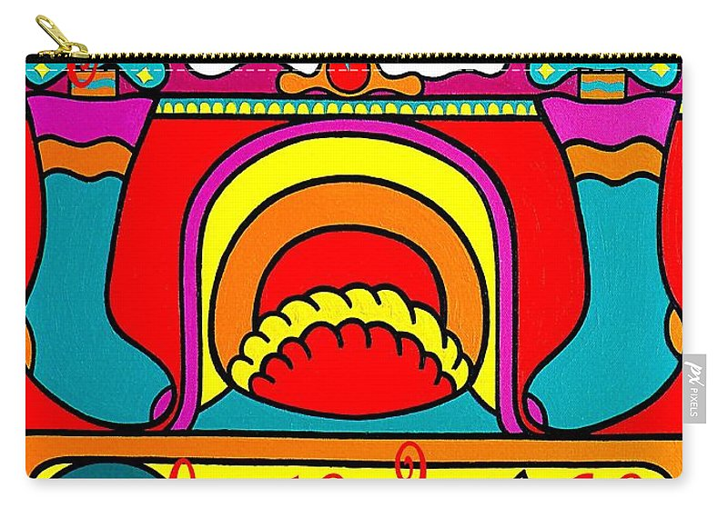 Christmas Carry-all Pouch featuring the painting Happy Christmas 16 by Patrick J Murphy