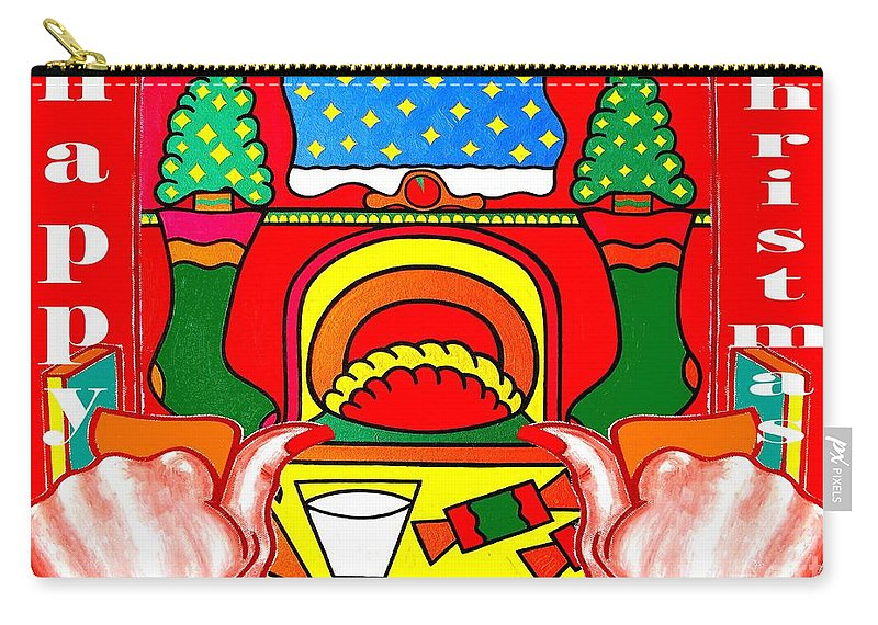 Christmas Carry-all Pouch featuring the painting Happy Christmas 17 by Patrick J Murphy