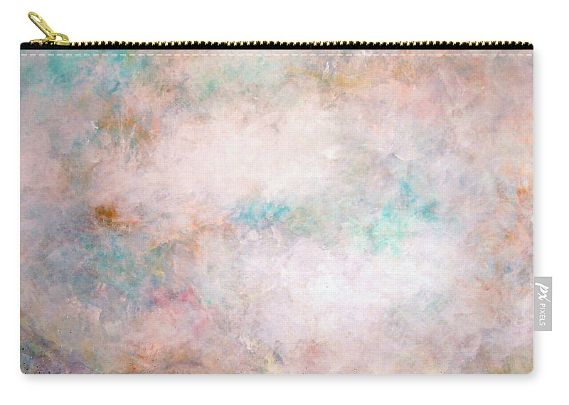 Clouds Carry-all Pouch featuring the painting Happy Dancing Clouds by Natalie Holland