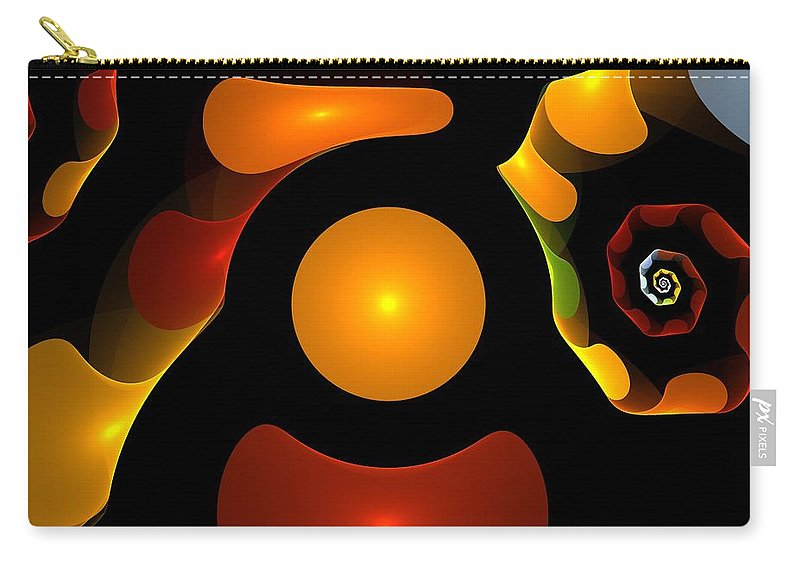 Bubble Carry-all Pouch featuring the digital art Happy Digits by Steve K