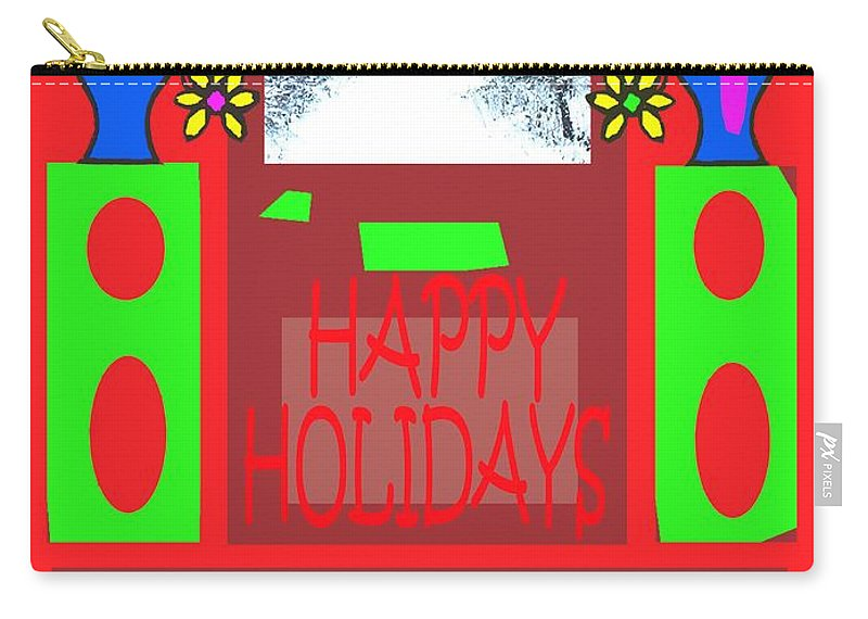 Christmas Carry-all Pouch featuring the painting Happy Holidays 98 by Patrick J Murphy
