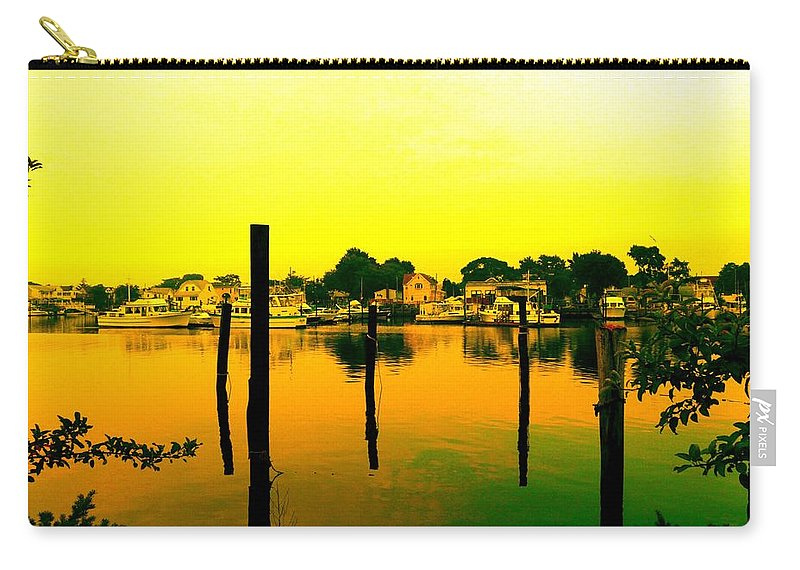 Waterscape Carry-all Pouch featuring the photograph Happy Homes by Kendall Eutemey