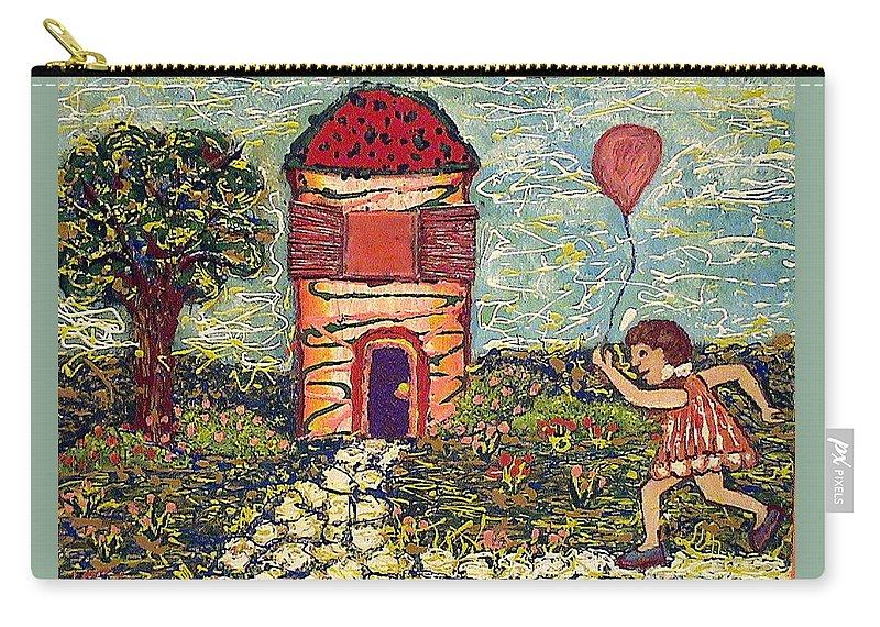 Nature Carry-all Pouch featuring the painting Happy In The Garden by Ioulia Sotiriou