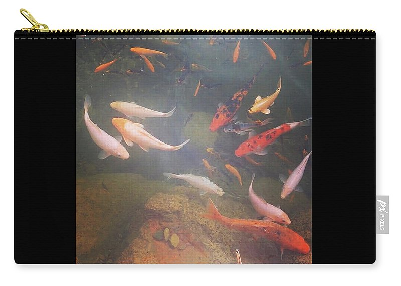 Koi Carry-all Pouch featuring the photograph Happy Koi by Kory Olson
