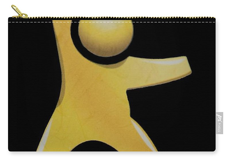 Man Carry-all Pouch featuring the photograph Happy Man by Rob Hans
