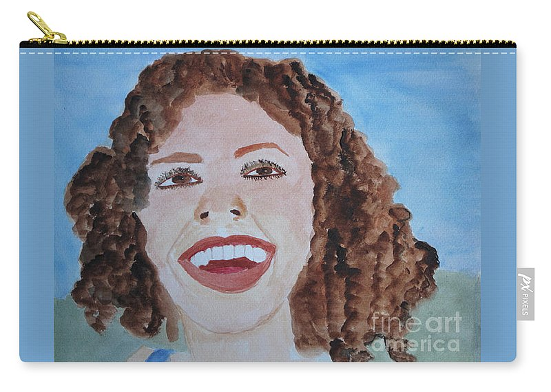 Happy Carry-all Pouch featuring the painting Happy by Sandy McIntire