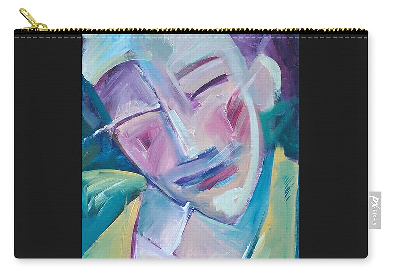 Happy Carry-all Pouch featuring the painting Happy by Tim Nyberg