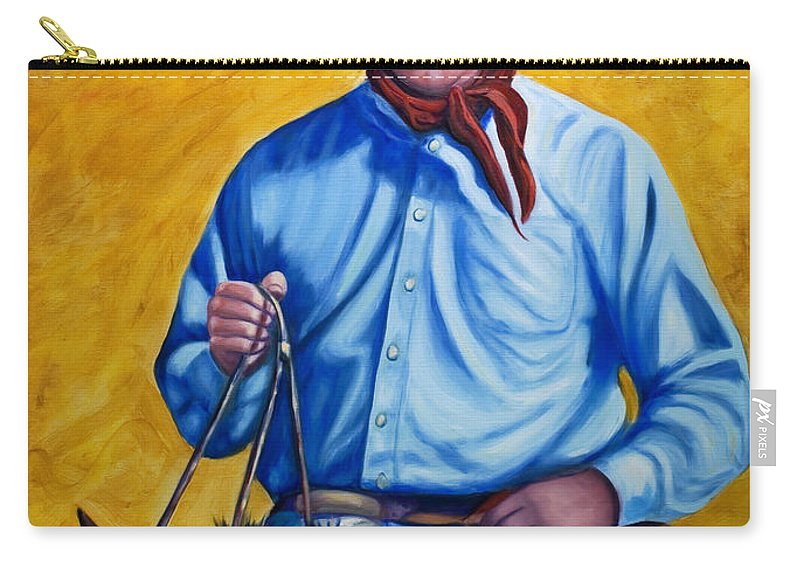 Cowboy Carry-all Pouch featuring the painting Happy Trails by Shannon Grissom