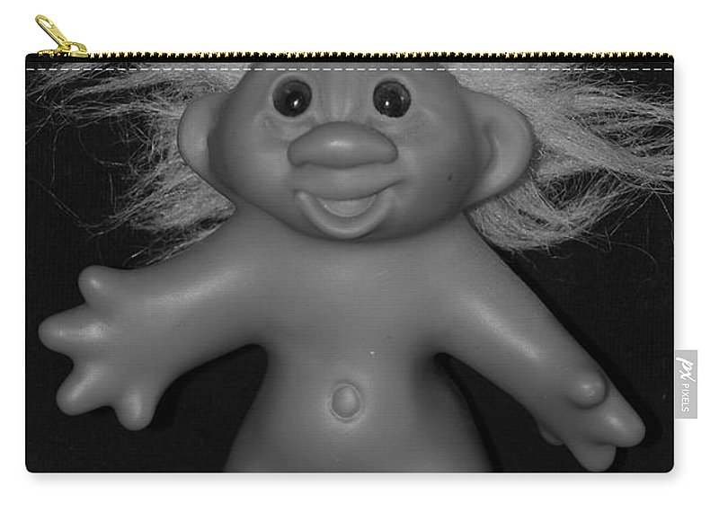 Happy Carry-all Pouch featuring the photograph Happy Troll by Rob Hans