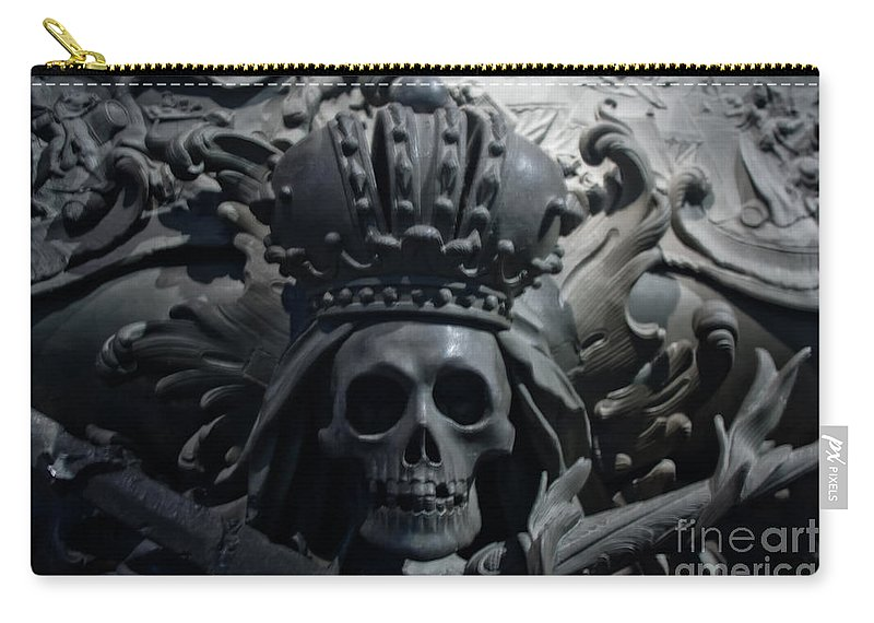 Hapsburg Tomb Mortuary Dead Burial Vienna Austria Carry-all Pouch featuring the photograph Hapsburg Tombs Vienna Austria by Thomas Marchessault