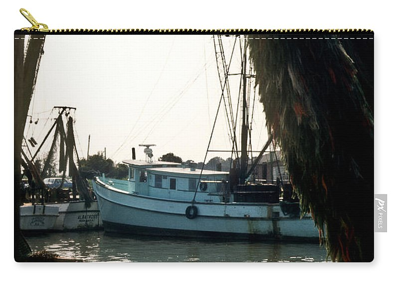 Harbor Carry-all Pouch featuring the photograph Harbor Boats by Douglas Barnett