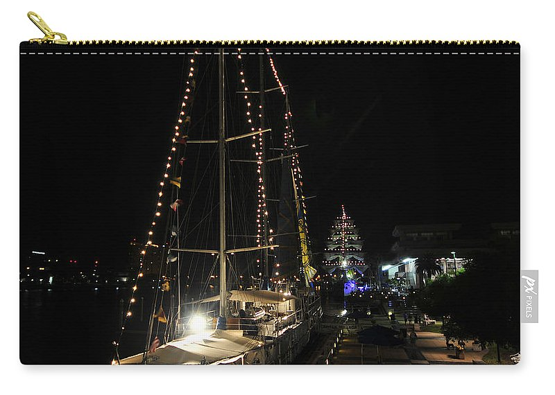 Tampa Bay Florida Carry-all Pouch featuring the photograph Harbor Night by David Lee Thompson