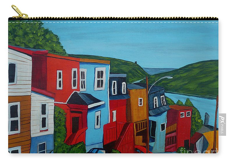 Newfoundland Carry-all Pouch featuring the painting Harborview by Anthony Dunphy