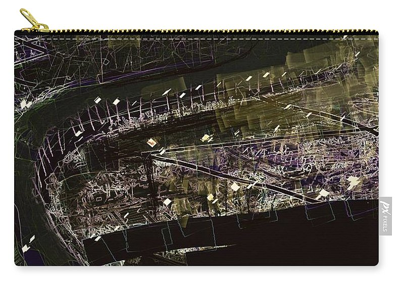 Port Carry-all Pouch featuring the digital art Harbour At Night by Subrata Bose