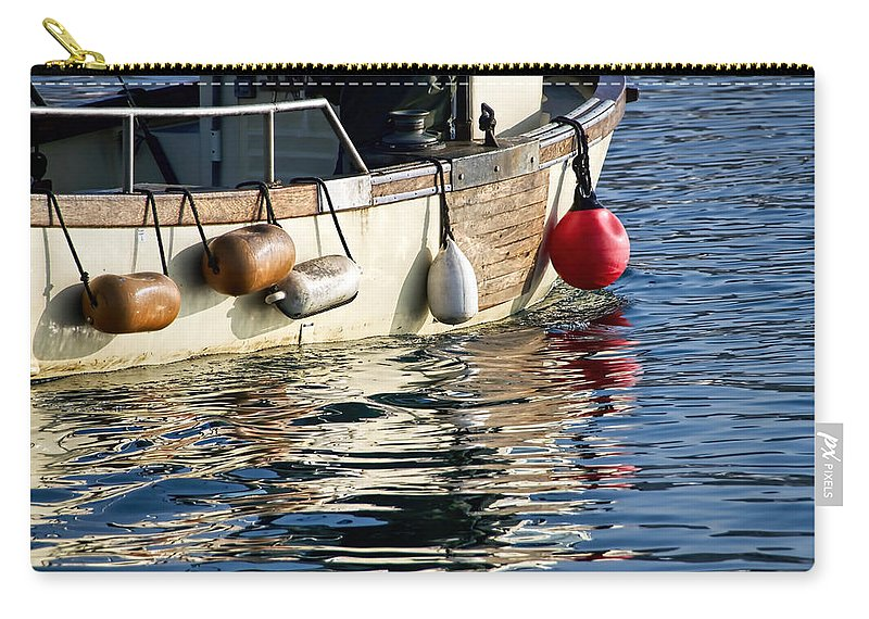 Lyme-regis Carry-all Pouch featuring the photograph Harbour Reflections 3 - June 2015 by Susie Peek