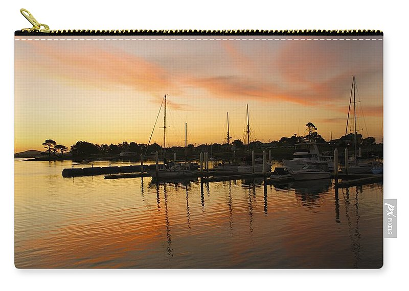 Sunset Carry-all Pouch featuring the photograph Harbour Sun Set by Kathryn Potempski