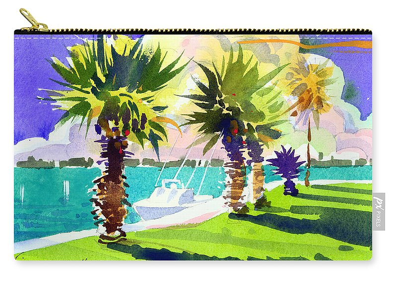 Bermuda Carry-all Pouch featuring the painting Harbourwalk by Lee Klingenberg
