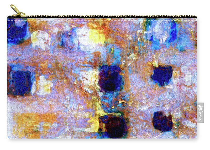 Abstract Carry-all Pouch featuring the painting Hard Eight by Dominic Piperata