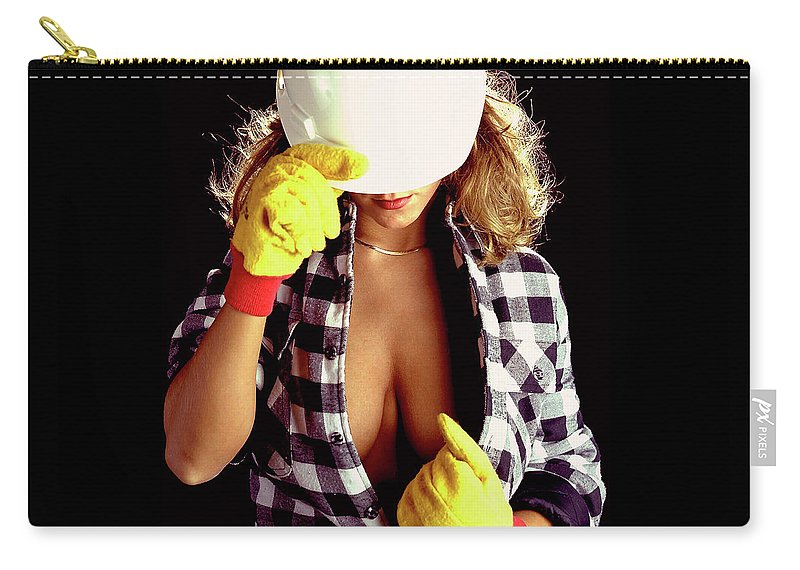 Construction Carry-all Pouch featuring the photograph Hard Hat-1a by Gary Gingrich Galleries