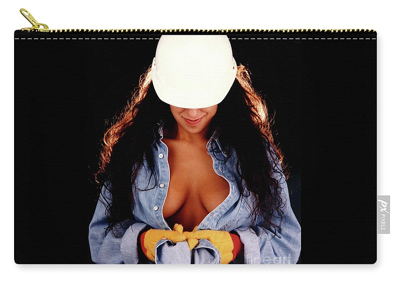 Construction Carry-all Pouch featuring the photograph Hard Hat-2a by Gary Gingrich Galleries