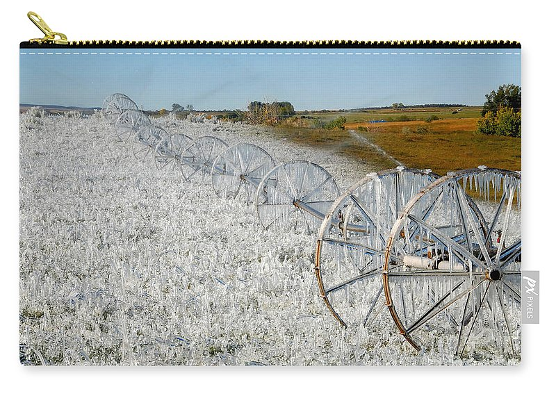 Farm Carry-all Pouch featuring the photograph Hard Land Farming by David Lee Thompson