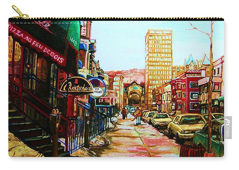 Hardrock Cafe Carry-all Pouch featuring the painting Hard Rock Cafe by Carole Spandau