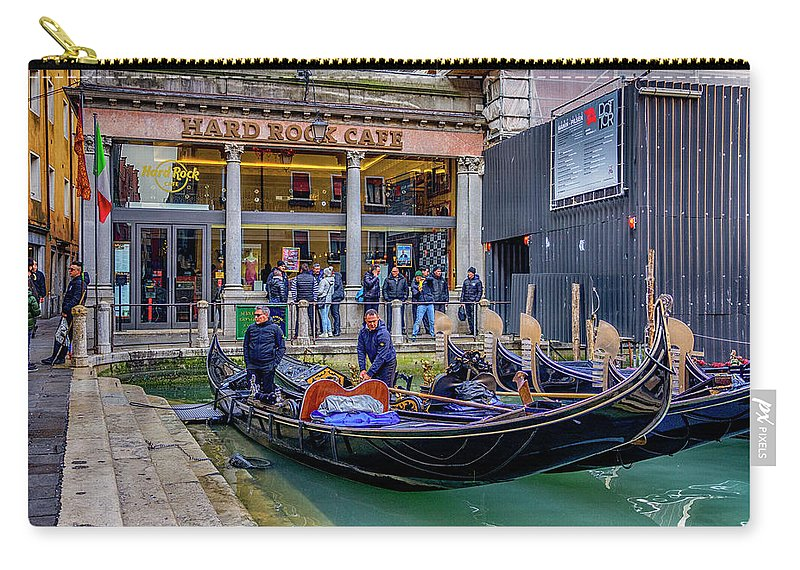 Europe Carry-all Pouch featuring the photograph Hard Rock Cafe Venice Gondolas_dsc1294_02282017 by Greg Kluempers