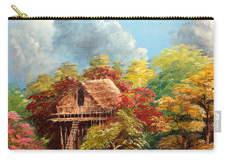 Landscape Carry-all Pouch featuring the painting Hariet by Jason Sentuf