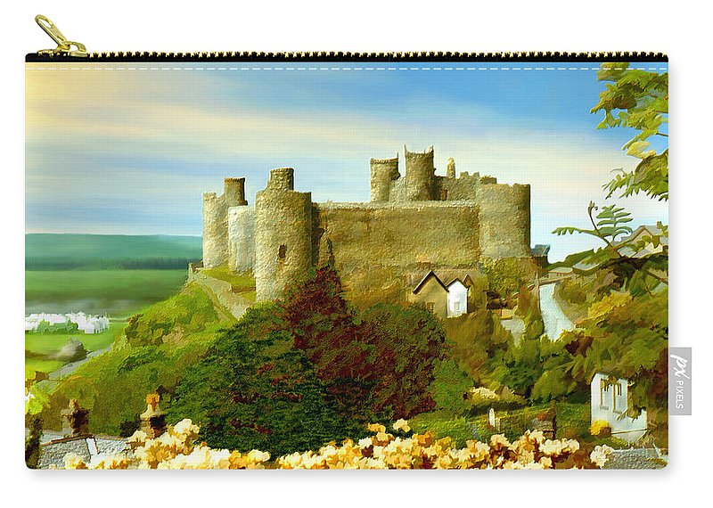 Castles Carry-all Pouch featuring the photograph Harlech Castle by Kurt Van Wagner